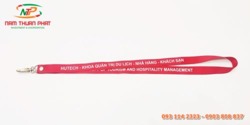 Dây đeo thẻ mẫu Hutech 2