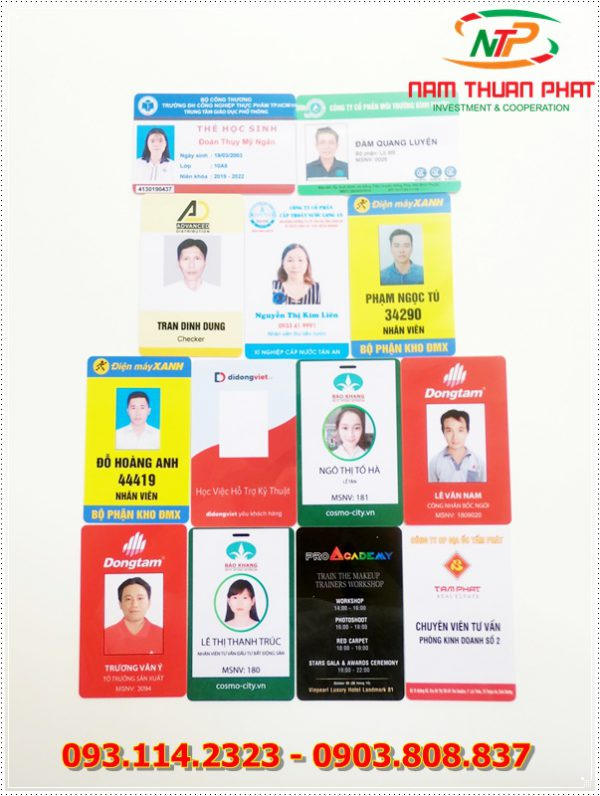 Thẻ nhân viên TD-010 3