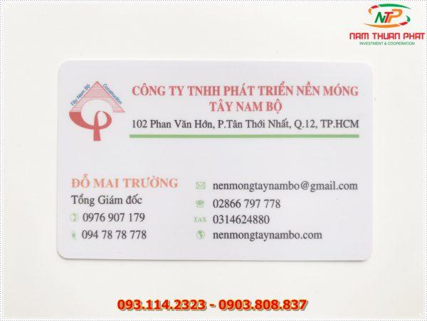 Thẻ nhân viên TD-010 5