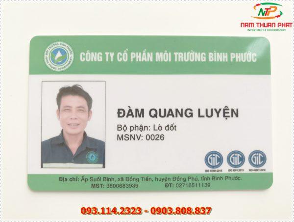 Thẻ nhân viên TD-020 1