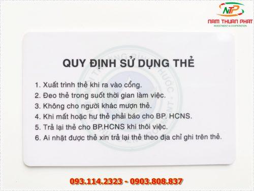 Thẻ nhân viên TD-020 7
