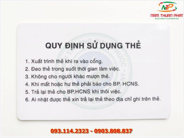 Thẻ nhân viên TD-020 2