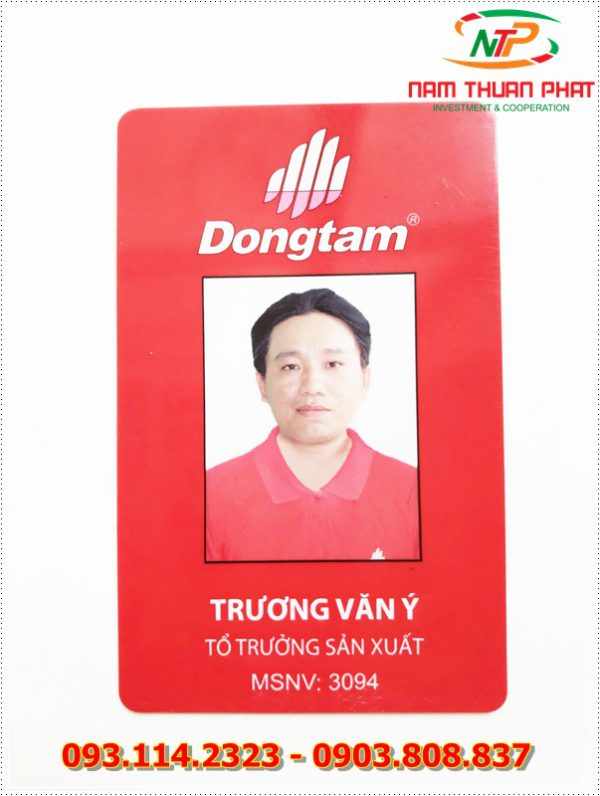 Thẻ nhân viên TD-015 1