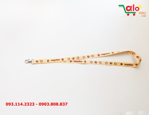 Dây đeo thẻ satin Magosteen 4