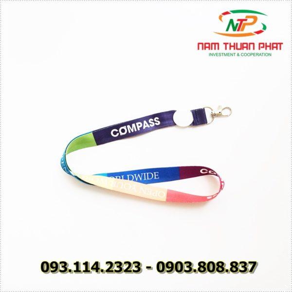 Dây đeo thẻ satin Compass 2