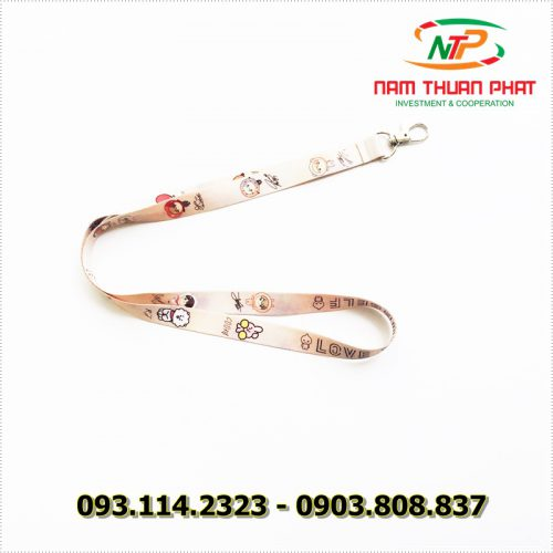 Dây đeo thẻ satin Love Yourself 8
