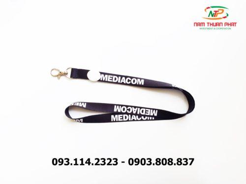 Dây đeo thẻ satin Đại học Mediacom 9