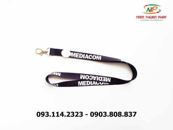 Dây đeo thẻ satin Đại học Mediacom 3