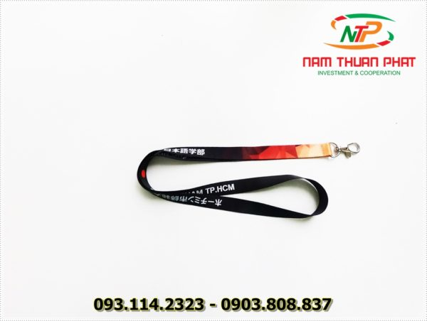 Dây đeo thẻ satin ĐH Sư Phạm HCM 2