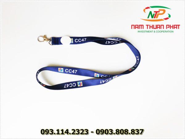 Dây đeo thẻ satin CC47 2