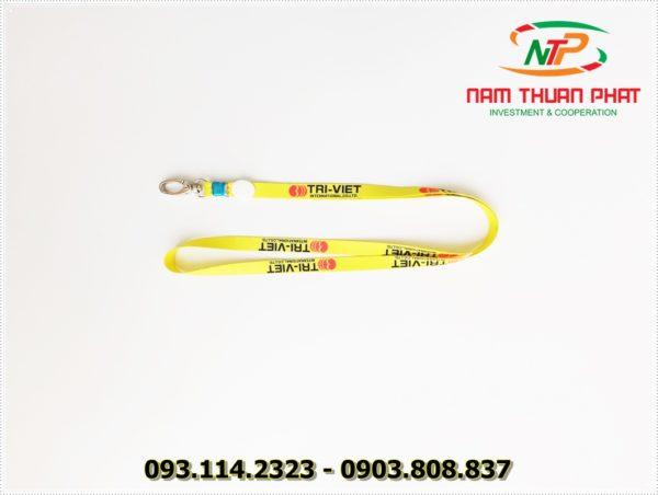 Dây đeo thẻ satin Trí Việt 3
