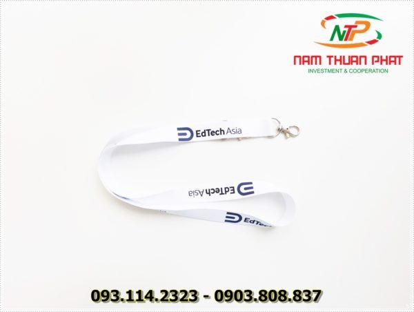 Dây đeo thẻ satin EdTech Asia 2