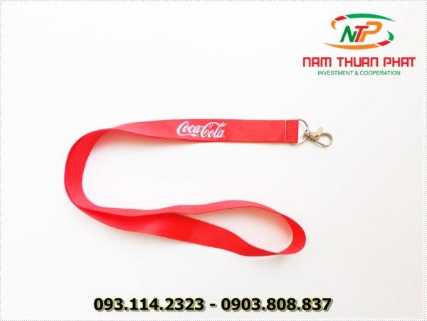 Dây đeo thẻ satin Coca.Cola 3