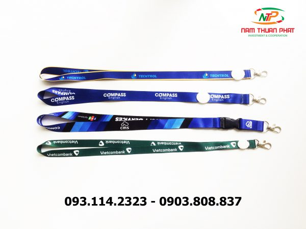 Dây đeo thẻ satin Compass English 4