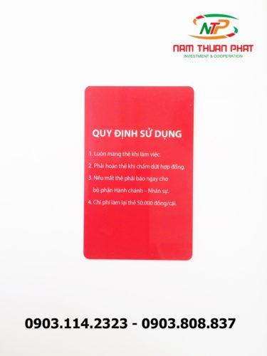 Thẻ nhân viên TD-015 8
