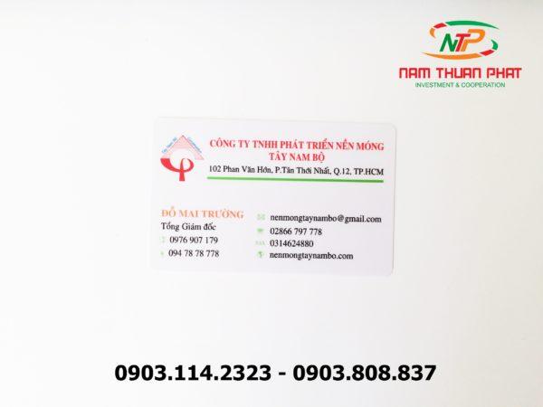 Thẻ nhân viên TD-010 1