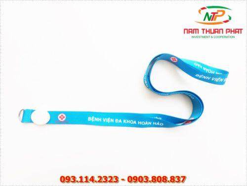 Dây đeo thẻ satin Hoan Hao Hospital 8