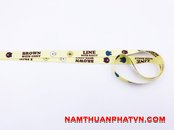 Dây đeo thẻ satin Brown with Condy 3