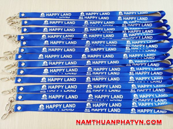 Dây đeo thẻ satin Happy Land 2