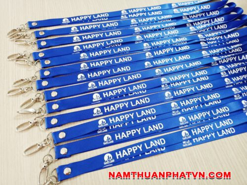 Dây đeo thẻ satin Happy Land 6