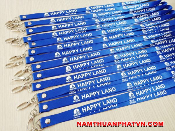 Dây đeo thẻ satin Happy Land 5