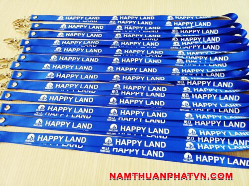 Dây đeo thẻ satin Happy Land 7