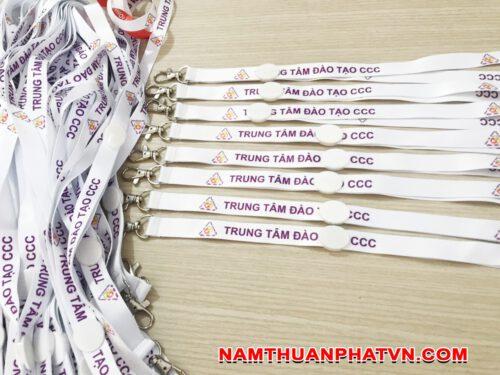 Dây đeo thẻ satin Trung tâm đào tạo CCC 6